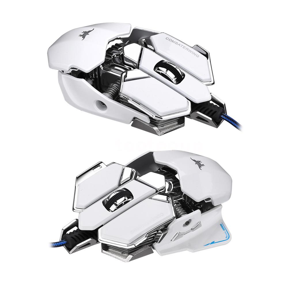 Combaterwing 4800DPI USB Wired Gaming Mouse 10 Kys RGB