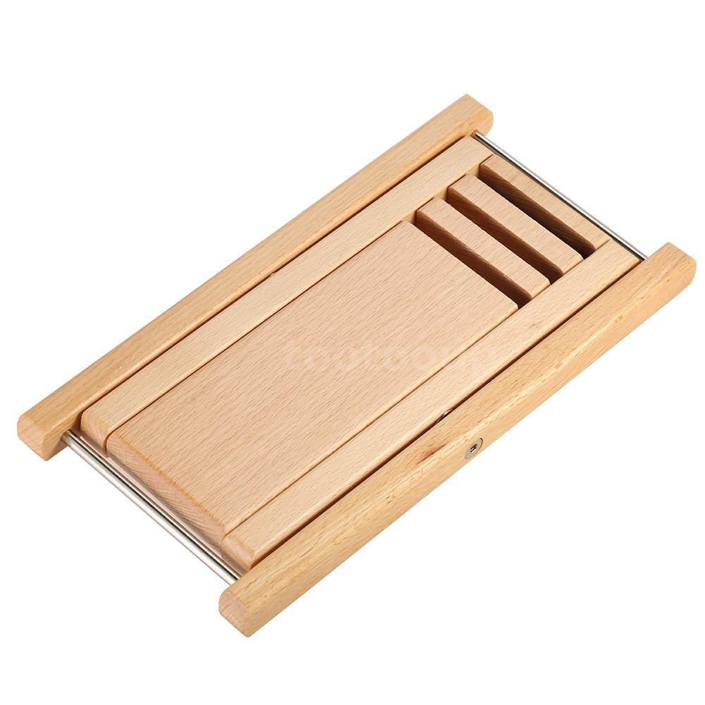 Foldable Wood Guitar Pedal Guitar Foot Rest Stool Beech