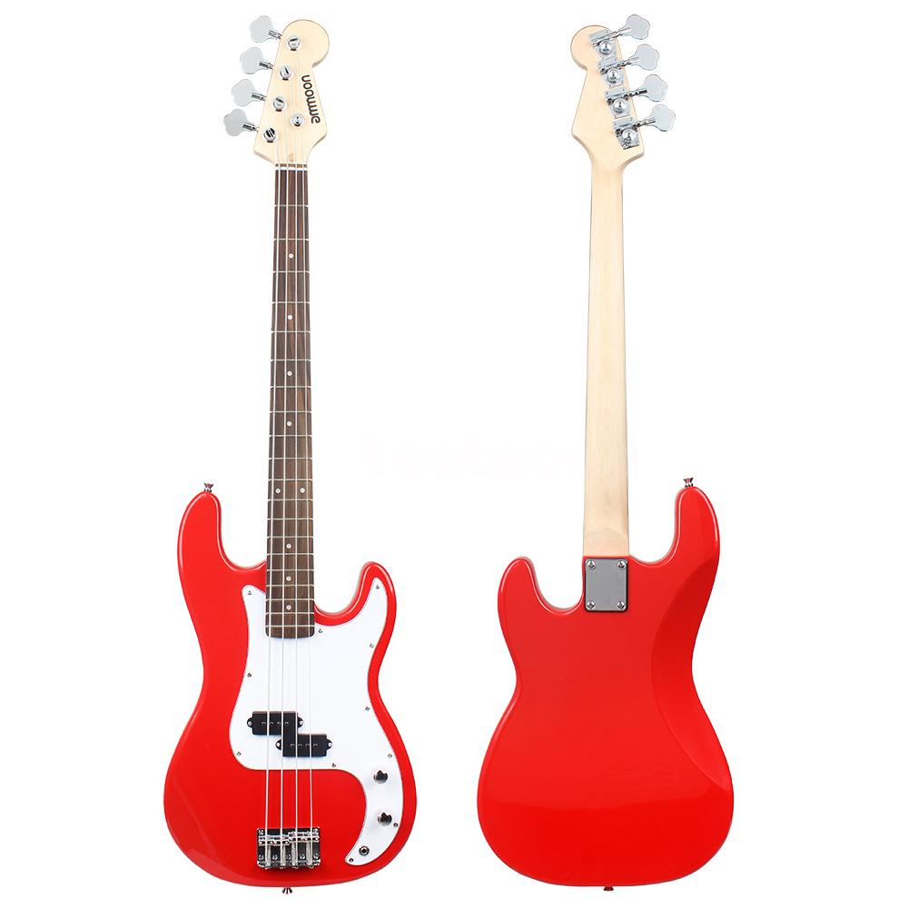 ammoon electric bass guitar pb style basswood body with gig bag strap w8v0 ebay. Black Bedroom Furniture Sets. Home Design Ideas