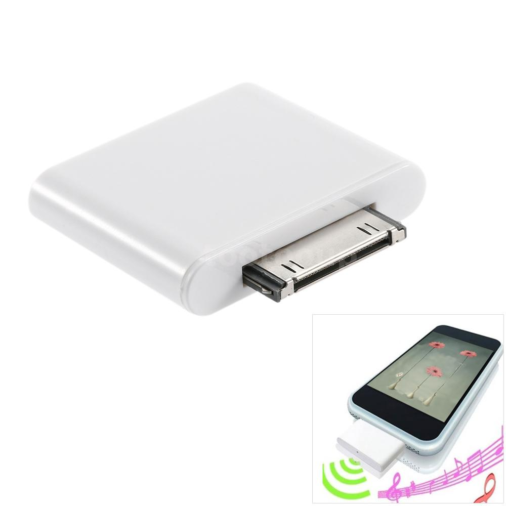 30pin bluetooth adapter dongle transmitter for ipod. Black Bedroom Furniture Sets. Home Design Ideas