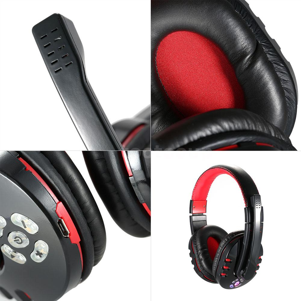 v8 wireless bluetooth stereo gaming headset headphone for. Black Bedroom Furniture Sets. Home Design Ideas