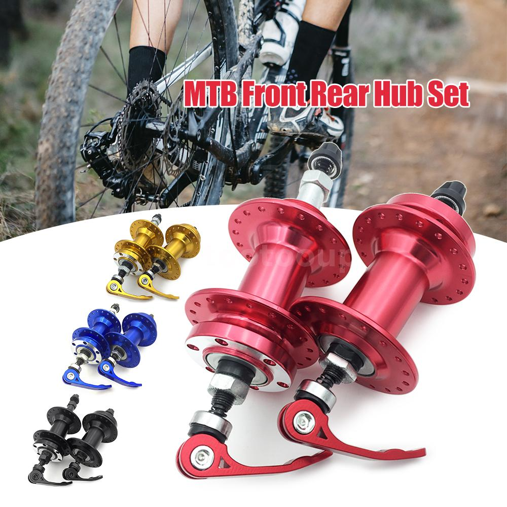 Details about Bike Disc Brake MTB Casette Bearing Hub 36H Front Rear Hub  Set with Quick X7Q5